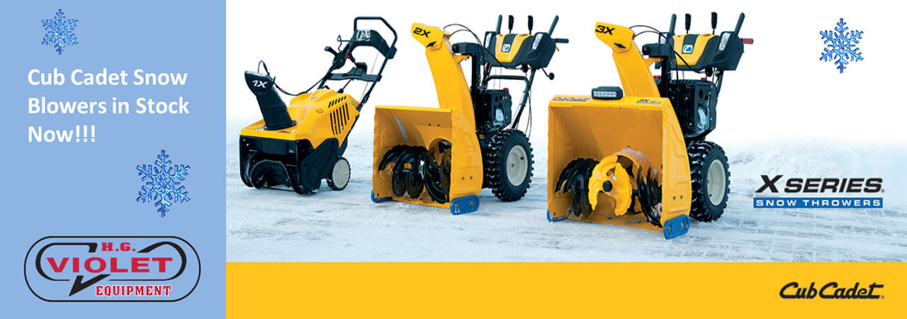 Cub Cadet snow blowers in stock now