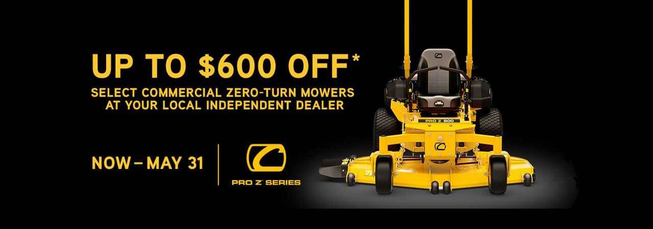 Up to $600 off select Cub Cadet zero-turn mowers