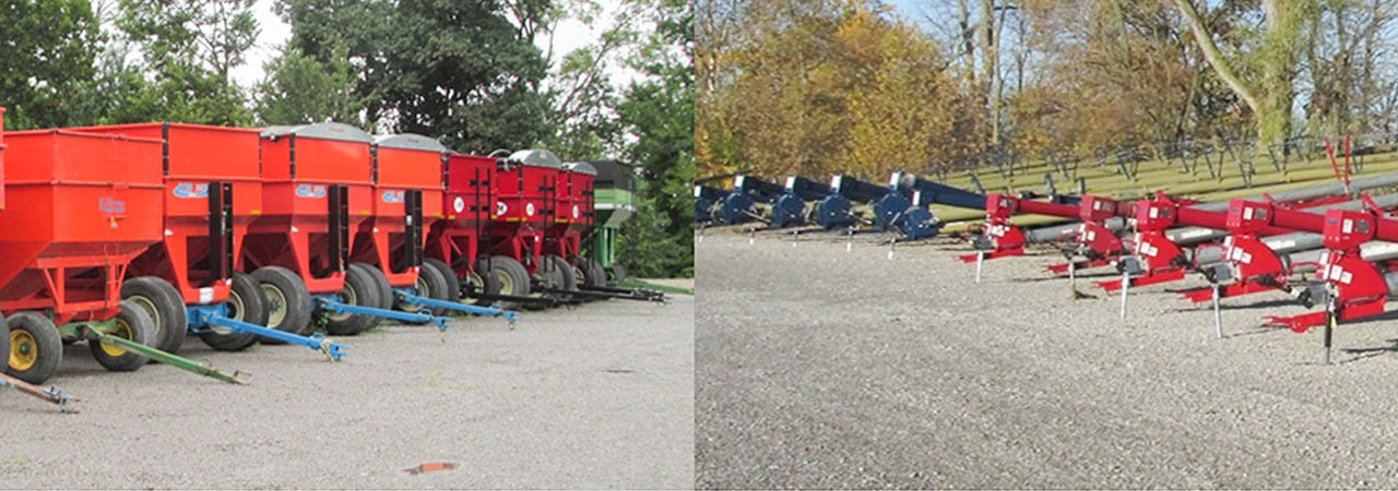 H.G. Violet has augers and grain wagons for sale.