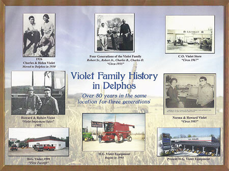 H.G. Violet family history in photos
